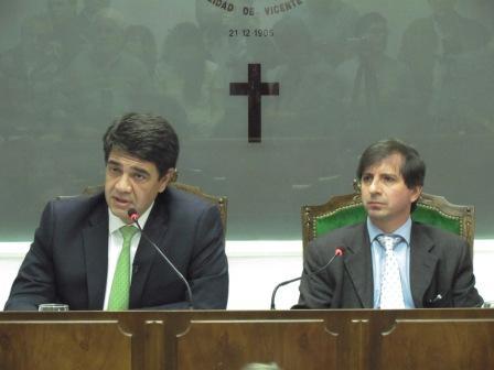 Jorge Macri y Germán Maldonado en la apertura de sesiones 2013