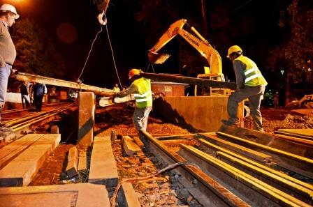 Luego de intensos trabajos sobre las vías, comienza la etapa final del Túnel de Simón de Iriondo
