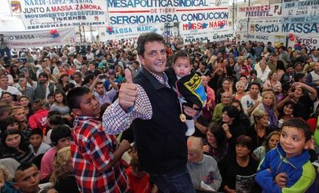 Sergio Massa festejó el dia del Trabajo en El Talar