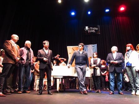el Intendente Jorge Macri y el Secretario de Cultura municipal, Rafael Staffolani sanunciaron el Mes de la Cultura en Vicente López