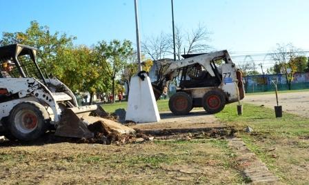 El Municipio remodela la Plaza Carlos Gardel, de Virreyes, en forma integral