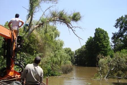 Realizan obras de matenimiento en el Delta de Tigre