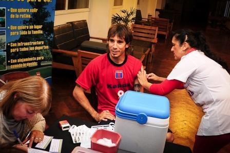 Los jugadores de Tigre se vacunaron contra la Gripe - Galmarini