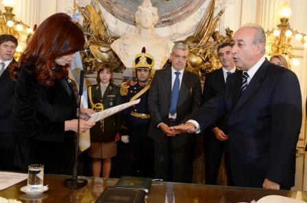 La Presidenta tomó juramento a los nuevos ministros de Seguridad y de Defensa