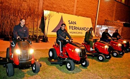 San Fernando incorporó 5 nuevos tractores destinados a los polideportivos