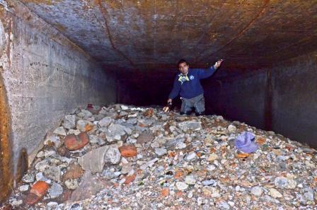El Municipio de San Fernando realizó tareas de inspección en el conducto del Arroyo Pavón