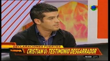 Cristian U confesó que fue un chico golpeado