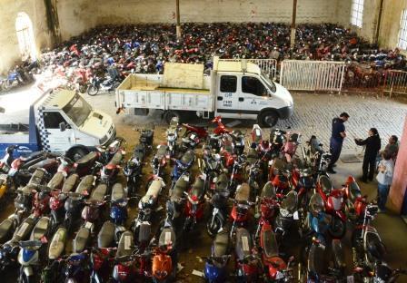 Ya son 2.352 las motos secuestradas en operativos vehiculares en San Martín