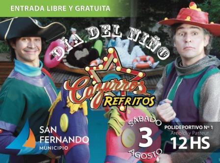San Fernando festeja el Día del Niño junto a Los Cazurros