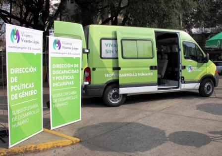Vicente López presentó la nueva oficina móvil de la Subsecretaría de Desarrollo Humano
