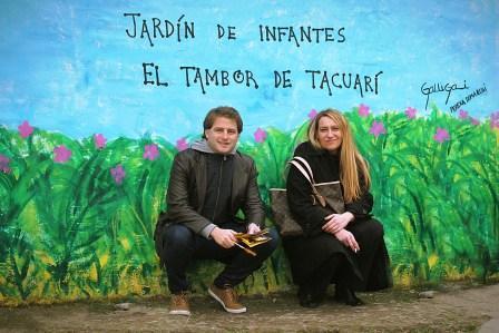 El referente del PRO San Fernando Alex Campbell visitó en el día de ayer el Jardín Tambor de Tacuarí en el Barrio Fate