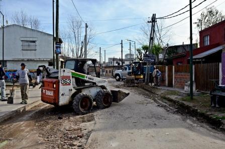 Restauran calles en el Barrio San Jorge, de Virreyes