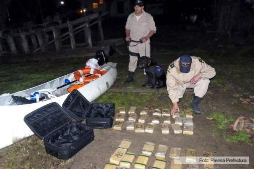Tres detenidos con 43 kilos de cocaína que llevaban a Uruguay