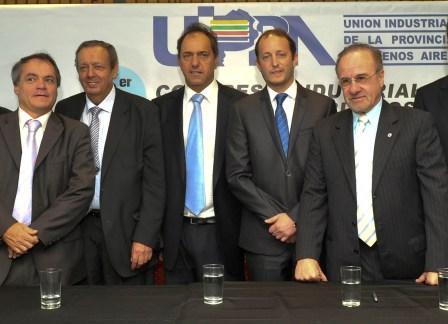Scioli participó de un encuentro de empresarios en Vicente López