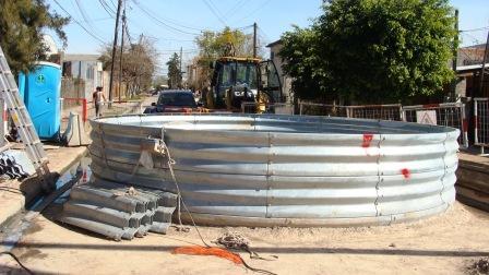 Avanzan importantes obras cloacales en Don Torcuato