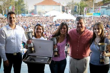 El primer candidato a diputado nacional por el Frente Renovador visitó la 39a. Fiesta Nacional del Salame Quintero