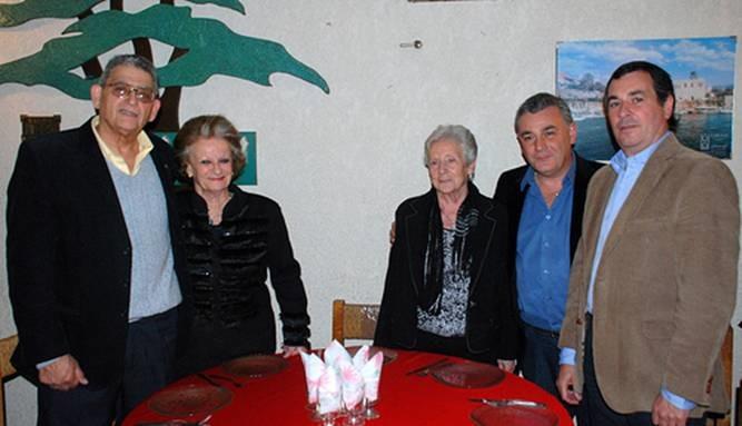 Julio Affif, Teresita Caparelli, María de los Ángeles Broggi, César Meridda y Andrés Rolón