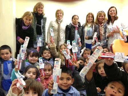 Los chicos de Tigre celebran por adelantado la semana de la Odontología
