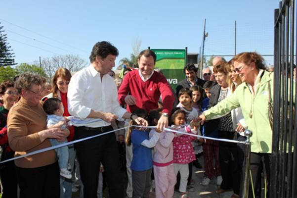 Posse inauguró una nueva plaza en Martínez