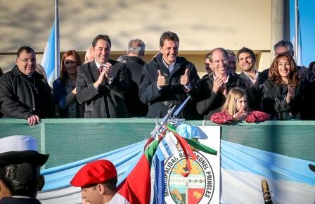 Sergio Masssa compartió la fiesta de la ciudad de Coronel Pringles en su 131 aniversario