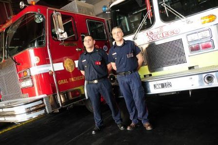 Dos integrantes del cuartel de bomberos de Gral. Pacheco viajaron a los EE.UU. para capacitarse
