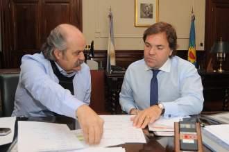 Granados en una reunión con el jefe de Gabinete Alberto Pérez