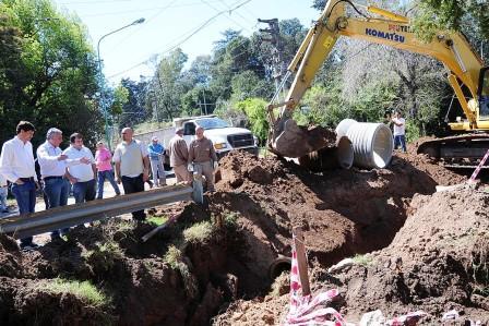 Realizan obras para evitar las inundaciones en Pacheco y Ricardo Rojas