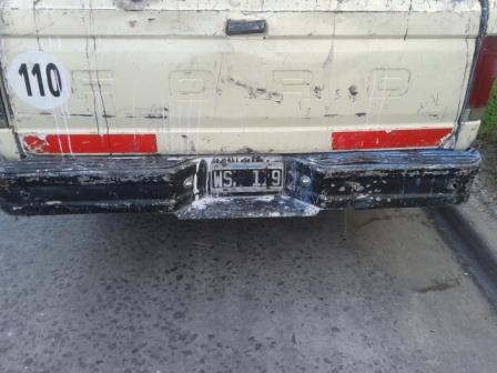 San Fernando aclaró que los Militantes del FPV conducían una camioneta con patente no visible y con un integrante con pedido de paradero activo