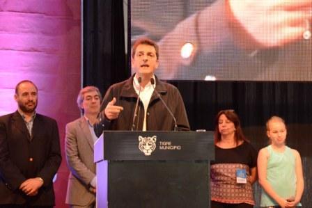 El intendente y diputado nacional electo, dio el discurso de cierre del 32º Congreso Internacional de Educación, que reunió en Tigre