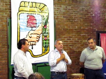 Zamora celebró el Día del Militante con representantes de la mesa político-sindical de Tigre