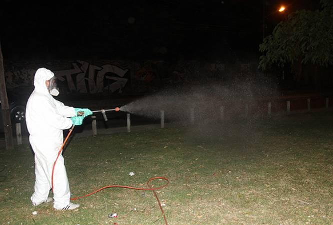En San Isidro fumigan contra el dengue