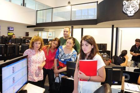 Funcionarios de la Comisaría de la Mujer de la ciudad de Dolores visitaron el Centro de Operaciones Tigre