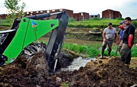 San Fernando trabaja intensamente en el mantenimiento de los desagues pluviales