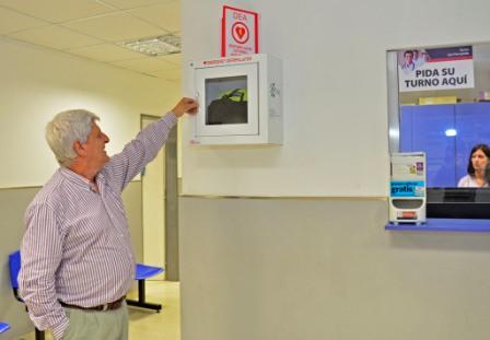 San Fernando instaló desfibriladores inteligentes en sus Polideportivos y Centros de Salud
