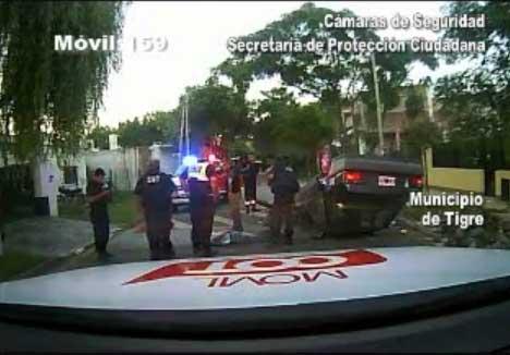 Un conductor borracho peligroso cayó en cerrojo de las cámaras de Tigre