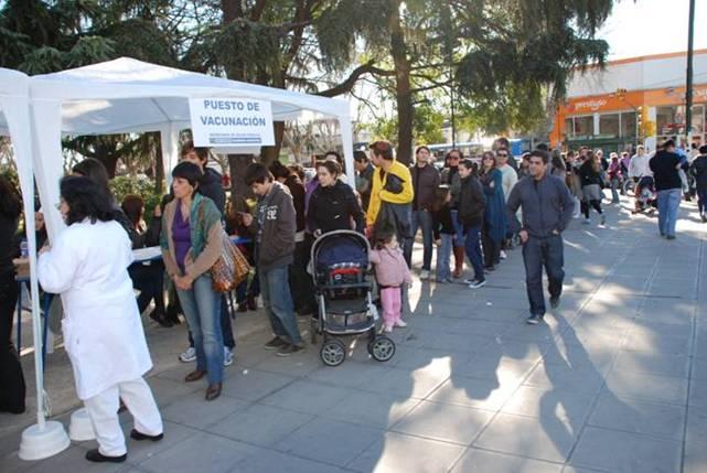 San Isidro inició la campaña de vacunación 2014