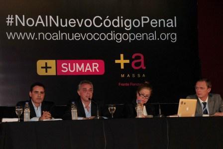El espacio SUMAR expuso su rechazo al nuevo Código Penal