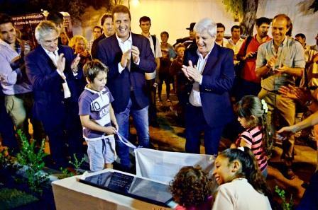 Se inauguró la Nueva Plaza de los Inmigrantes Italianos en Virreyes