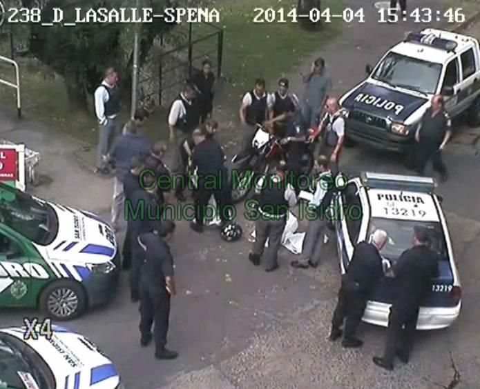 Persecución y captura de un delincuente en San Isidro