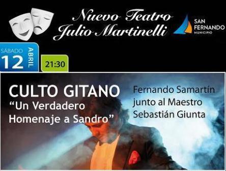 Culto Gitano, un recorrido por los inolvidables éxitos de Sandro, se presenta en el Teatro Martinelli