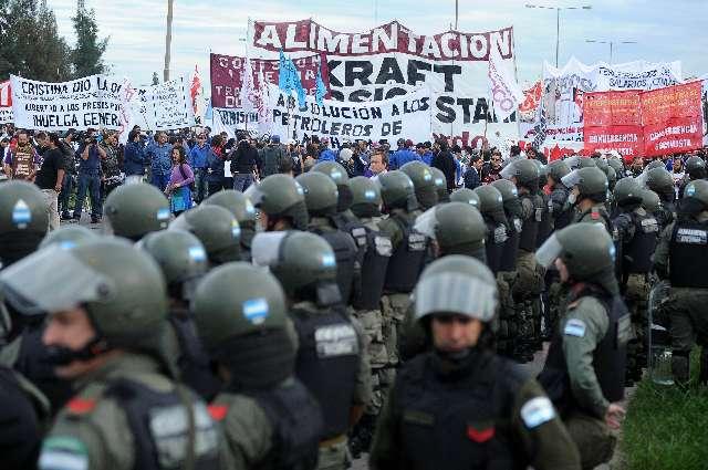 Un gendarme herid por los incidentes en el corte de panamericana en pacheco