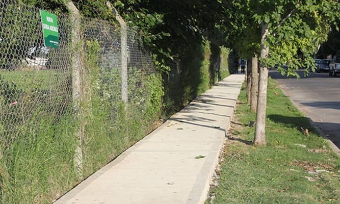 Avanza la obra de la nueva senda aérobica en Boulogne