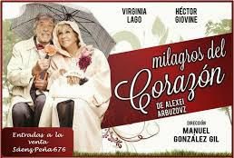 Milagros del Corazón con Virginia Lago y Héctor Gióvine, se presentará en el Teatro Martinelli