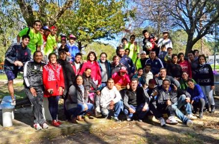 Chicos de la Casa de Día para el tratamiento de las adicciones de San Fernando compartieron una jornada en el Polideportivo N°3