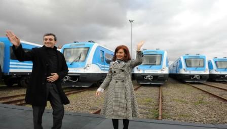 Cristina Fernández presentó los nuevos coches del Ferrocarril Sarmiento
