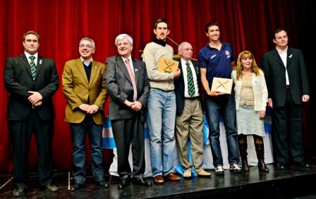 Luis Andreotti y Julio Zamora participaron de la celebración por el 91° aniversario del Club San Fernando