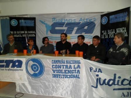 Firman un convenio entre la campaña contra la violencia institucional y la CTA en Vicente López