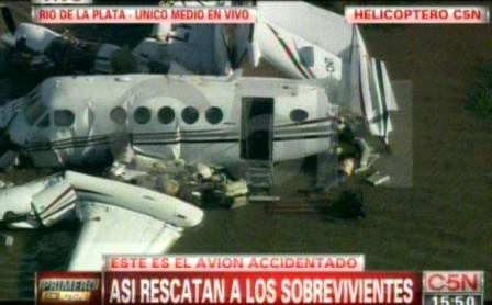 La Fuerza Aérea Uruguaya informó que la avioneta caída volvía a San Fernando