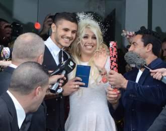 Wanda Nara se casó este martes con Mauro Icardi en San Isidro