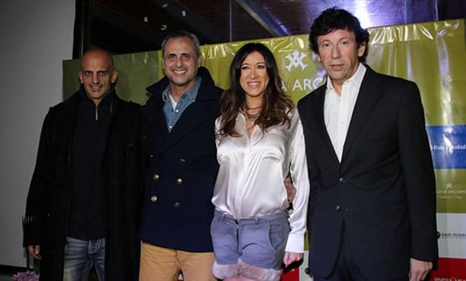Marín, Rial, Archimó y Posse en la inauguración de la escuela de danza